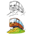 bus coloring vector image