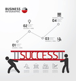 Business Infographic carrying ladder concept vector image vector image