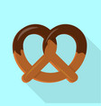 candy pretzel icon flat style vector image vector image