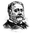 chester a arthur vintage vector image vector image