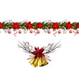 christmas elements for your designs vector image vector image