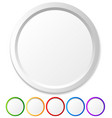 circles shapes with empty space for icons logos vector image vector image