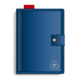 closed sketchbook icon realistic style vector image vector image