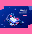 college design for web page vector image