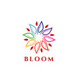 colorful bloom logo design symbol vector image