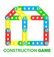 construction game developing child toy vector image vector image