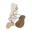 continuous line cup coffee vector image