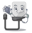 doctor hard drive in shape of mascot vector image vector image