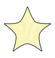 doodle nice bright star in the sky design vector image