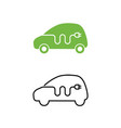 electric car with electrical charging cable icon vector image