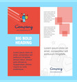 employee company brochure title page design vector image
