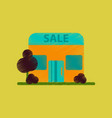 flat shading style icon shop sale vector image vector image