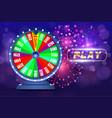 fortune wheel online casino design concept vector image vector image