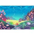 Funny cartoon seascape vector image vector image