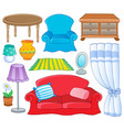 furniture theme collection 1 vector image