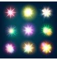 Glow light effect stars bursts EPS 10 vector image vector image