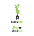 green eco technology logo design vector image vector image