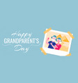 happy grandparents day colorful horizontal banner vector image vector image