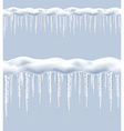 Icicles seamless border vector image vector image