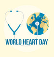 international world heart day background flat vector image