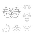 isolated object of masquerade and mystery sign vector image