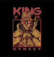 king street lion design vector image vector image