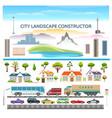 landscape constructor set vector image vector image