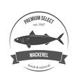 mackerel scomber emblem label vector image vector image