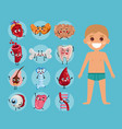 male body anatomy poster with child vector image