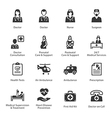 Medical and Health Care Icons Set 1 - Services vector image