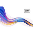 modern colorful flow poster art design for your vector image