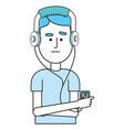 music man cartoon vector image