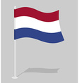 Netherlands flag Official national symbol of vector image vector image