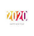new year card with figure vector image vector image