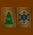 new year or merry christmas greeting card cover vector image vector image