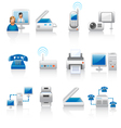 Office equipment icons vector | Price: 1 Credit (USD $1)