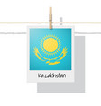 photo of kazakhstan flag vector image