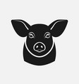 pig head silhouette farm animal icon vector image