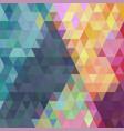 purple orange dark magenta triangular low poly vector image