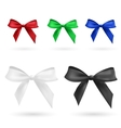 Red green blue black and white bow