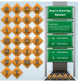 Road Street And Traffic Sign Alphabet Character vector image vector image