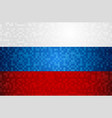 russia flag background design in pixel art style vector image vector image