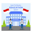 school indonesian national education day concept vector image vector image