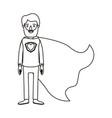 silhouette cartoon full body bearded super man vector image vector image