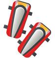 soccer defense knee pads sport equipment success vector image