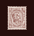 vintage postage stamp for album face a man vector image vector image