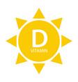 vitamin d sun sign icon vector image