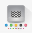 wave shape icon sign symbol app in gray square vector image vector image