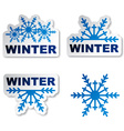 winter snowflake promotional stickers vector image vector image