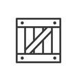 wooden box icon vector image vector image